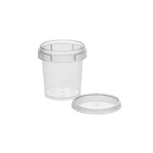 25 x kleine Kunststoffdose Plastikbecher mit Deckel 50 ml, BPA-frei, lebensmittelecht