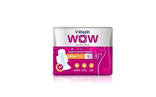 VWash Wow UltraThin Sanitary Napkins - Extra Large (30 Count)