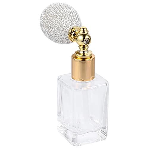 SOLUSTRE Cristal Arte Vintage Perfume Recargable Corto Spray Borlas Bomba Botellas de Vidrio Recargables Vacío Botella de Perfume Recargable Señora Herramienta de Maquillaje 15ML