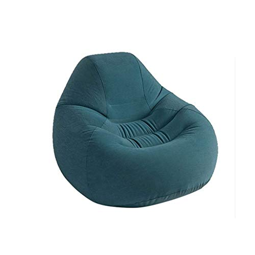 DIAOD Large Inflatable Single Sofa, Waterproof Bean Bag Lounger Leisure Chair High with Air Pump