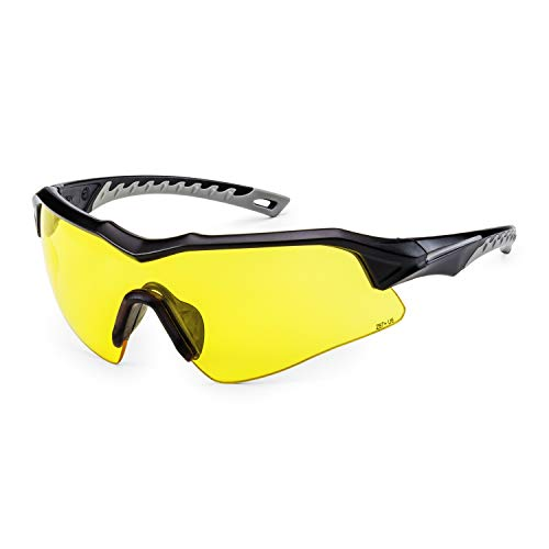 Solid. perfect fitting Shooting Glasses with ballistic impact protection | Shooting eye Protection with clear, anti-fog, scratch-Resistant and UV-Protective Glasses | For Men & Women
