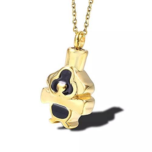 OYHBV Collar Collar Conmemorativo De La Cremación De La Joyería Colgante Conmemorativo del Recuerdo con La Cadena para Los Amantes De Los Animales del Gato del Perro del Animal Doméstico