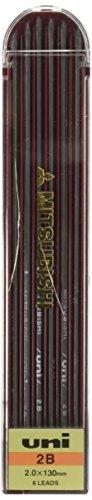 uni Uni Drop Holder Type Pencil Lead, 2.0mm, 2B (ULN2B)