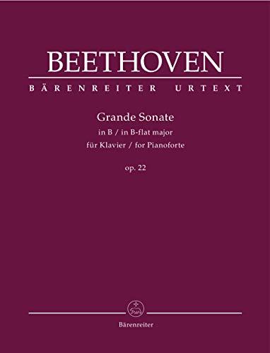 Grande Sonate für Klavier B-Dur op. 22. Spielpartitur, Urtextausgabe. BÄRENREITER URTEXT