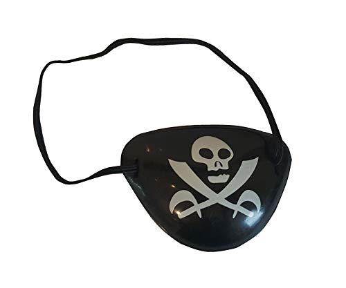 Sonnenscheinschuhe® Augenklappe Pirat Totenkopf Kostüm Zubehör Karneval Kindergeburtstag Fastnacht
