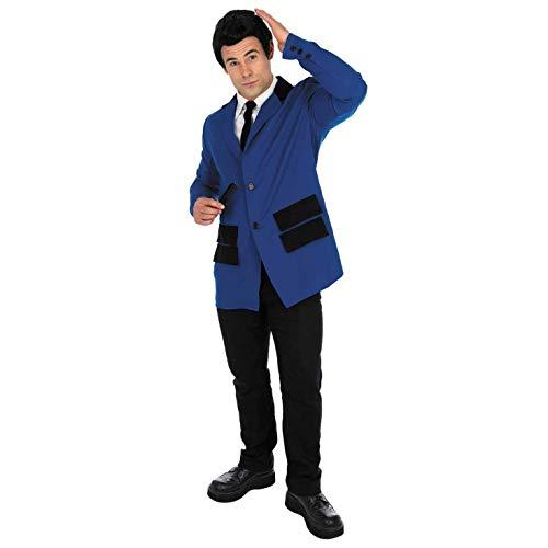 Fun Shack FN2791L kostuum, mannen 50s Teddy jongen pak marine, groot