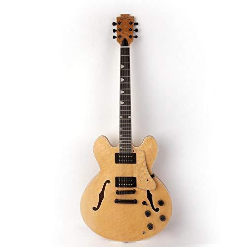 MLKJSYBA Guitarra Jazz Hueco Hueco F Agujero Guitarra Eléctrica Acero Acústico Guitarras...