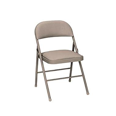 Cosco Fabric Folding Chair Antique Linen (4-pack)
