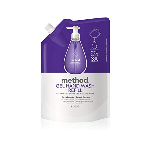 Method Gel Hand Soap Refill, French Lavender, 34 oz, 1 pack, Packaging May Vary
