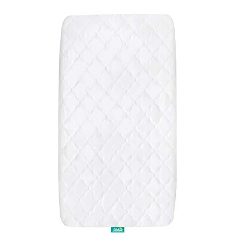 Cradle Mattress Pad Cover for 36' × 18' Standard Cradle Mattress, Ultra Soft Microfiber Surface and Extra Waterproof Layer, Washer & Dryer Friendly