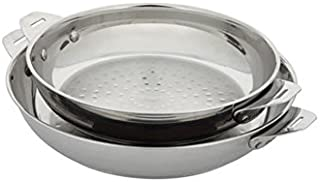 Aubecq A506500 Plug & Play - Set of 2 Frying Pans - uncoated - 24/28 cm