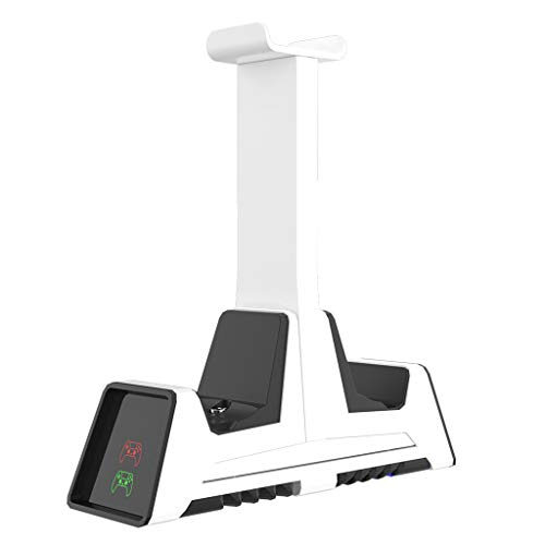 Desconocido moregirl PS5 Base de Carga Multifuncional Rack de Almacenamiento para Auriculares Ps4 / Nspro/Xboxone/Series Cargador Dual