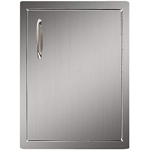 """YXHARD Outdoor-Küchen-Tür, 304 Edelstahl, Grill-Zugangstür für draußen, Sommer, Küche, Grillstation oder gewerbliche Grillinsel. 16"""" Wx 22.5"""" H Single Door Left"""