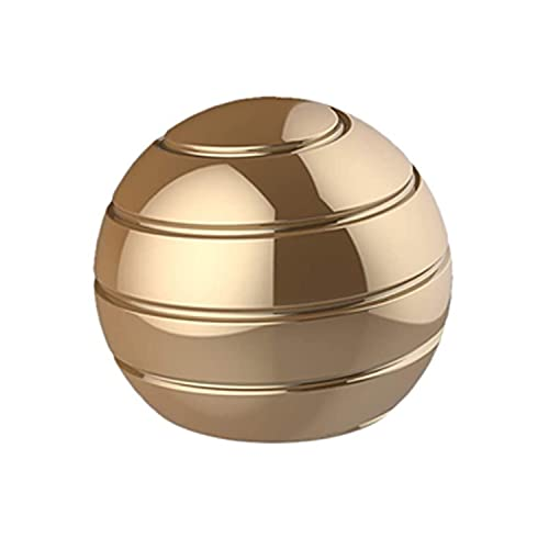 Aomeiter Desktop Motion Toys,Full Body Optical Illusion Fidget Spinner Ball,Creates a Mind-Bending Optical Illusion of Continuously Flowing Top Adult & Kids Pressure Reduction Toys Gifts(Gold)