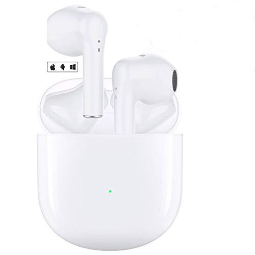 Auriculares Bluetooth 5.0 Auricular Inalámbrico Control Táctil con Graves Profundos In-Ear Auriculares Bluetooth con Caja de Carga Rápida IPX5 Impermeables,para Android/iPhone/Apple Airpods