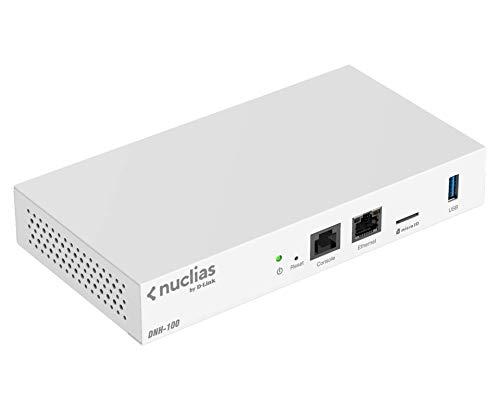 D-Link Nuclias Connect Hub DNH-100 (Management für 100 Access Points der DAP-23/26/36-Serien, 1x Gigabit LAN, 1 x MicroSD, 1x USB 3.0, L2 Roaming, Band Steering, Captive Portal, 19-Zoll Montage)