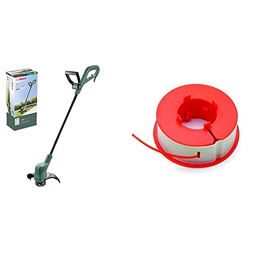 Bosch Rasentrimmer EasyGrassCut 23 (280 Watt, Schnittkreisdurchmesser 23 cm, im Karton) & F016800175 Fadenmagazin Combitrimm / Easytrimm