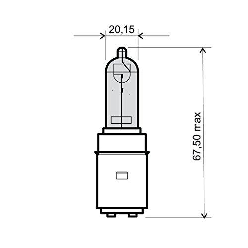 Ampoule 12V 35/35W BA20d, Halogène Bilux