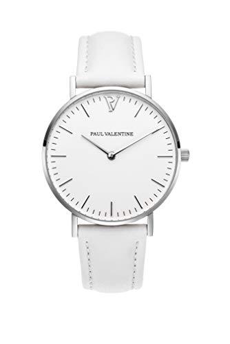 PAUL VALENTINE ® - Reloj Marina Silver White para...
