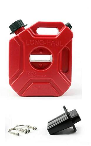 Narubb 5 Liter 5l Kanister mit Montageset CASE5L ATV Quad Geländewagen Auto Kraftstoffkanister Benzinkanister Motorrad SUV