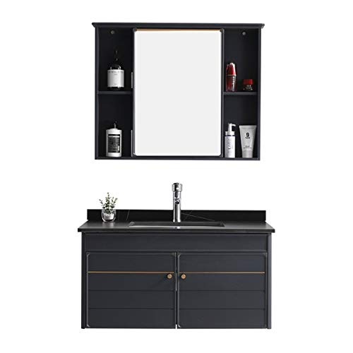 Gabinete de Espejo de baño Gabinete de baño Combinación Montado en Pared...