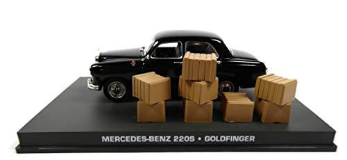 James Bond Mercedes Benz 220S 1956 007 Goldfinger 1/43 (DY117)