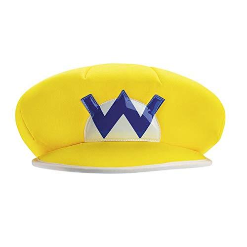 Super Mario Bros Nintendo Wario Kostuum Hoed Volwassene Een Maat