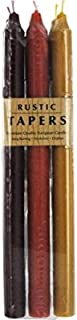 Northern Lights Candles - Rustic Tapers 6pc Banded - 12in Autumn Harvest