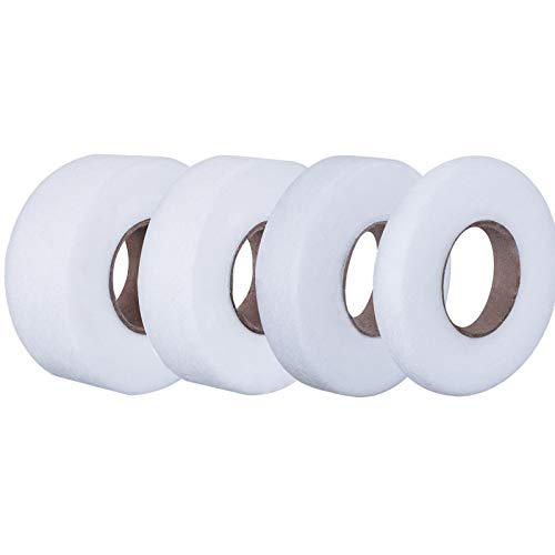 Outus 4 Pack Fabric Fusing Tape Adhesive Hem Tape Iron-on Tape 3/4 Inch, 3/8 Inch, 1/2 Inch, 1 Inch, Each 27 Yards Long