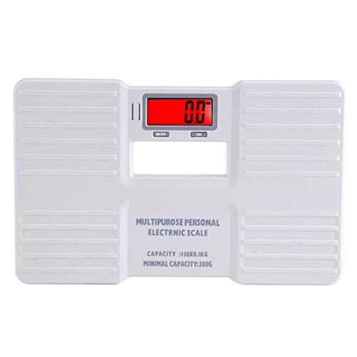 LCD Digitale weegschaal Aan/Tarrafunctie Lichaamsgewicht Elektronische bascula digitale peso Vloerbedekking Badkamer Weegschaal, wit