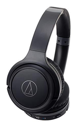 audio-technicaワイヤレスヘッドホン最大40時間再生Bluetoothマイク付き密閉型ブラックATH-S200BTBK