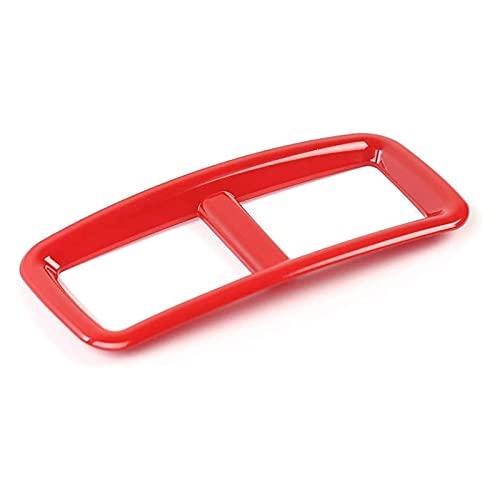 Iinger Adatta per Dodge Challenger 2015-2020 Auto Condizionatore d'Aria Auto Outlet Vent Cover Trim Decor Cornice Adesivi Interni Accessori Interni (Color Name : Red)