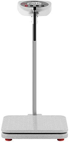 WEHOLY Balanza Báscula eléctrica, balanza Digital de Altura y Peso de Alta precisión, Columna Digital, 70-190 cm / 200 kg, batería de Gran Capacidad
