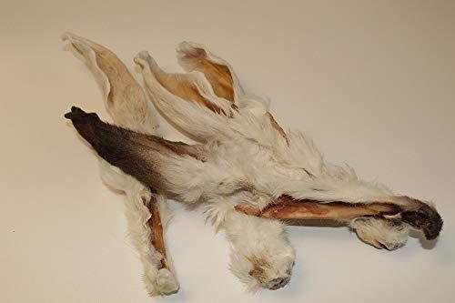 JaBens Kaninchenohren mit Fell für Ihren Hund | 100% aus Deutscher Herstellung | im geruchsneutralen Beutel | Kauartikel