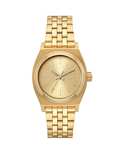 Nixon - Medium Time Teller 31mm All Gold / White - Armbanduhr Damen