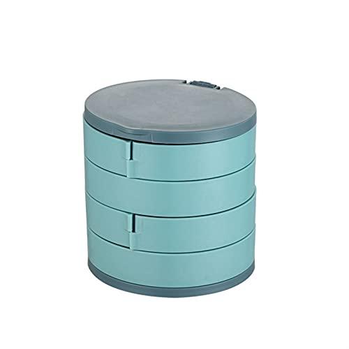ENJY Joyero 2pcs joyería Caja de Almacenamiento Multicapa joyería giratoria Soporte Pendientes Caja de Anillo contenedor de Almacenamiento (Color : Green)
