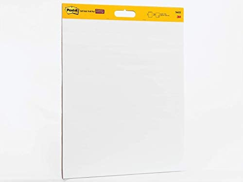 Post it Super Sticky Wall Easel Pad 20 x 23 Inches 20 Sheets Pad 1 Pad 566SS Portable White product image