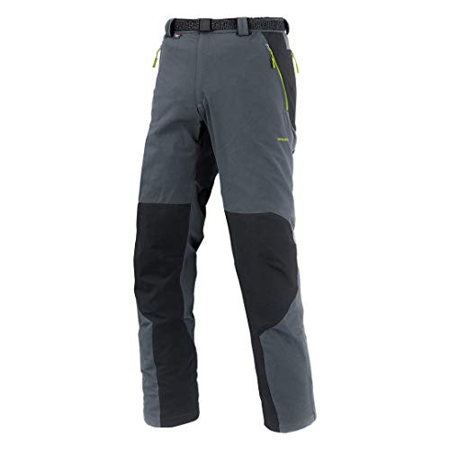 Trangoworld Etnas Pantalones Largos, Hombre, Gris (Pizarra) / Negro, XL