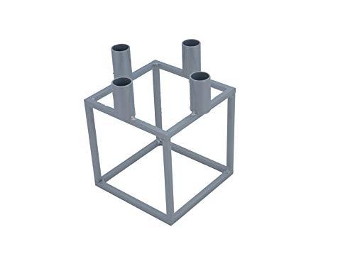 tradeNX NX® Design Kerzenständer Kubus Cube Silber (20cm)