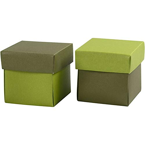 ccHobby CCH Paper Art - Pappschachtel 5x5x5.5 cm Grün