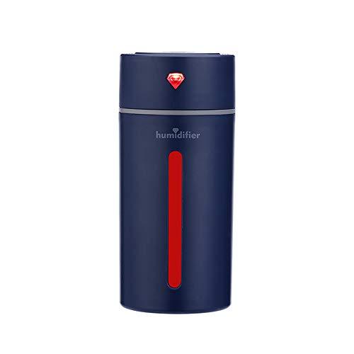 Humidificateur de tasse de diamant,Dinglong Purificateur d'air humidificateur assainisseur d'huile essentiel humidificateur de diffuseur pour la maison/voiture (Bleu foncé)
