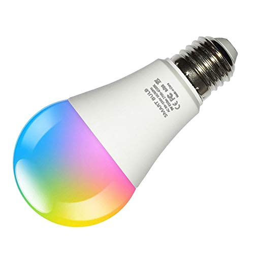 MERIGLARE RGBCW WiFi Smart Bulb Control de Voz Cambiante de Color Ajustable - 10w_70mm