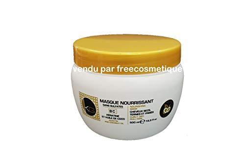 KERAGOLD PRO Masque Nourissant sans Sulfates à Kératine/Huile de Coco 500 ml