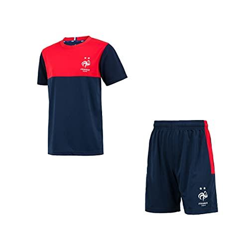 Trikot Shorts FFF – Offizielle Kollektion der französischen Nationalmannschaft – Kindergröße 8 Jahre marine