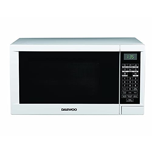 Daewoo 1000W 30L Digital Microwave KOR1N0A with 9 Power Levels and Defrost Function, Family Size, 60 Minute Timer and End Alarm Sound, Child Safety Lock and Easy Clean White