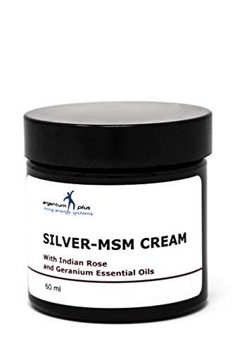 Silber-MSM Crème mit essentiellem Geranium- und Indischem Rosenöl - 60 ml