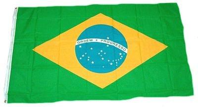 Flaggenking Brasilien Flagge/Fahne - wetterfest, mehrfarbig, 150 x 90 x 1 cm