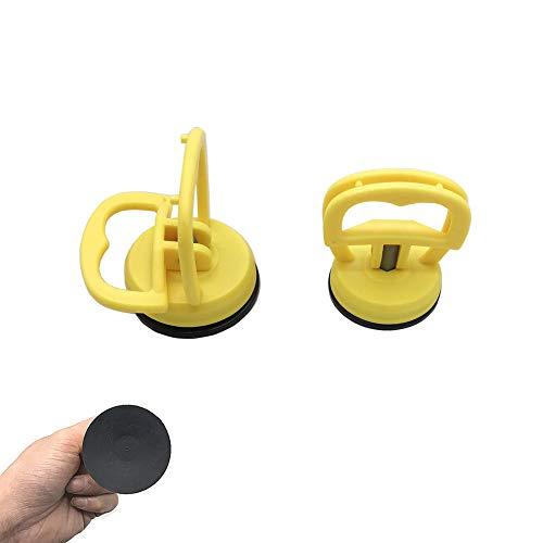 2.5 * 2 * 2.5 Pouces Ventouse de Voiture,Ventouses de Réparation de Carrosserie Ventouse de Manutention Puller Removal pour Redresser Les Bosselures des Voitures,Panneau Ventouse Outil (2 Pcs)