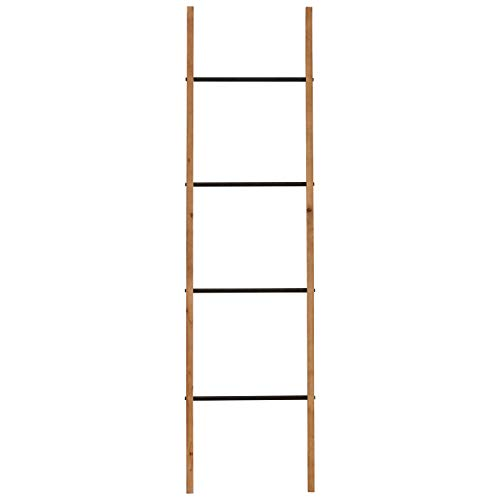 Amazon Brand – Rivet Contemporary Fir Decorative Blanket Ladder with Iron Rungs - 71.65