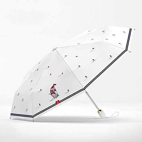 NFHBBAA Parapluie Automatique Pluie Femmes Écran Solaire Parapluie Pliant Parapluie Coupe-Vent UV